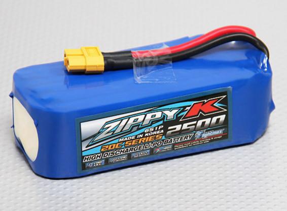 Zippy-K Flightmax 2500mah 6S1P 20C Lipoly Battery