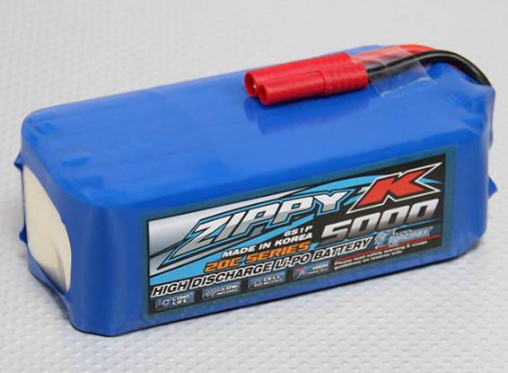 Zippy-K Flightmax 5000mah 6S1P 20C Lipoly Battery