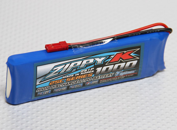 Zippy-K Flightmax 1000mah 2S1P 25C Lipoly Battery