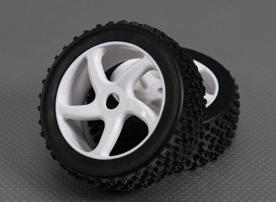 1/8 Buggy Wheel/Tire 17mm Hex (2pcs/bag)