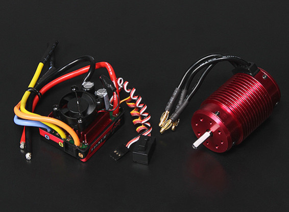 Turnigy TrackStar Waterproof 1/8 Brushless Power System 1900KV/120A