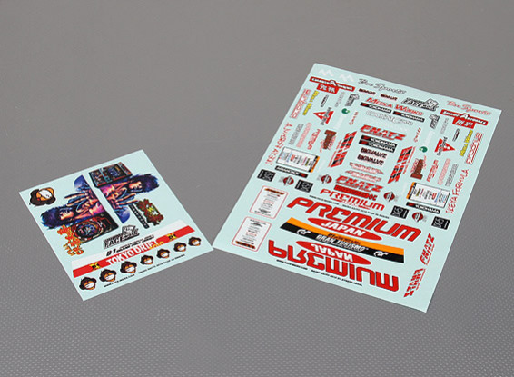Self Adhesive Decal Sheet - 2010 D1 1/10 Scale