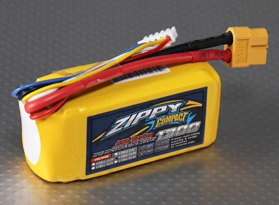 ZIPPY Compact 1300mAh 4S 35C Lipo Pack