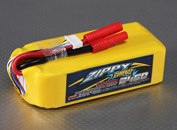 ZIPPY Compact 2450mAh 6S 35C Lipo Pack