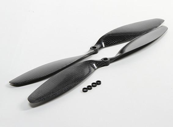 Carbon Fiber Propeller 12x3.8 Black (CW/CCW) (2pcs)