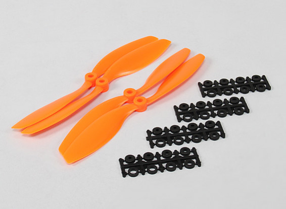 8x4.5 SF Props Std & Reverse Rotation Orange (4pcs)