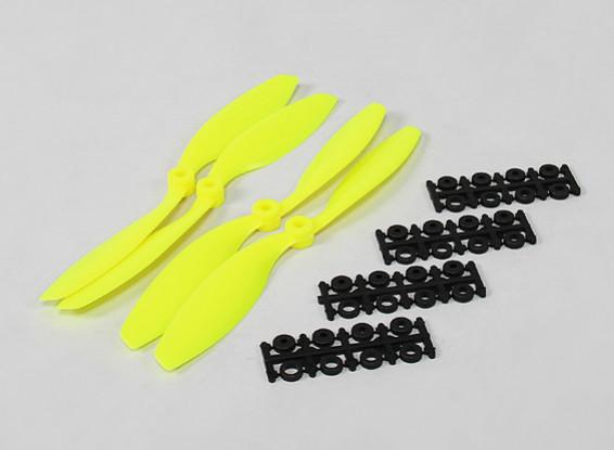 8x4.5 SF Props Std & Reverse Rotation Fluorescent Yellow (4pcs)