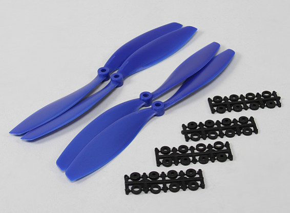 Hobbyking Slowfly Propeller 10x4.5 Blue Std & Reverse Rotation (4pcs)