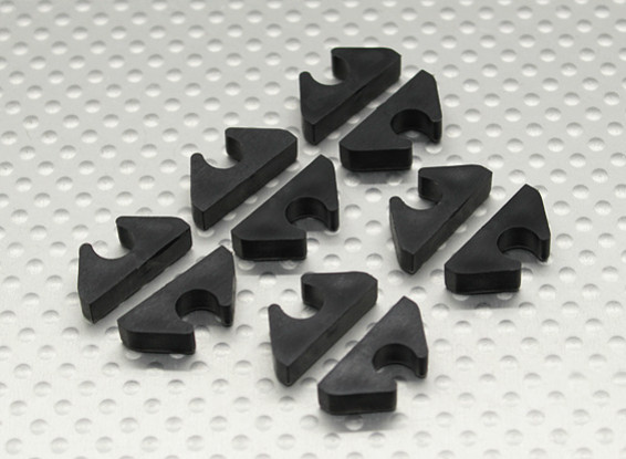 Air Line/Fuel Line/ Cable Tidy Clip for 6mm OD (10pc)