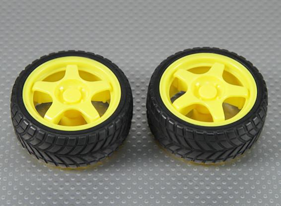 28mm Wheel/Tire Set (2Pcs/Bag)