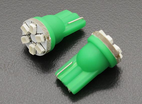 LED Corn Light 12V 0.9W (6 LED) - Green (2pcs)
