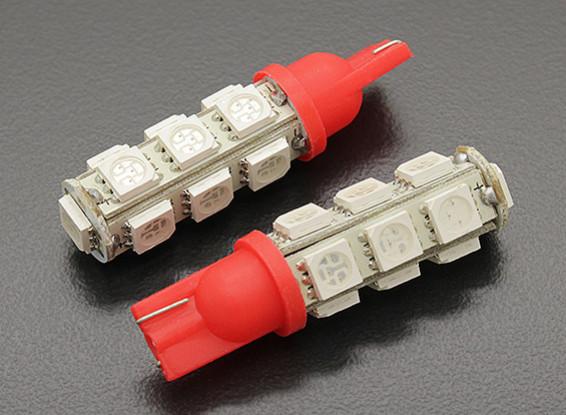 LED Corn Light 12V 2.6W (13 LED) - Red (2pcs)