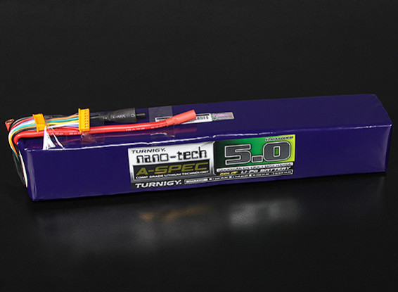 Turnigy nano-tech A-SPEC 5000mah 12S 65~130C Lipo Pack