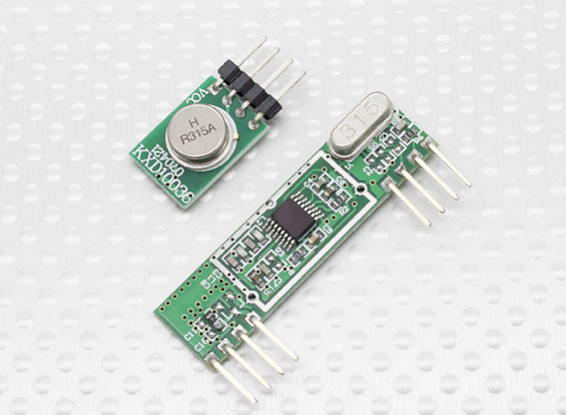 Superheterodyne 3400 Wireless Receiver Module and 315RF Wireless Transmitter