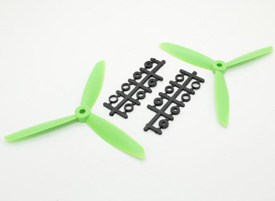 Hobbyking™ 3-Blade Propeller 6x4.5 Green (CW/CCW) (2pcs)