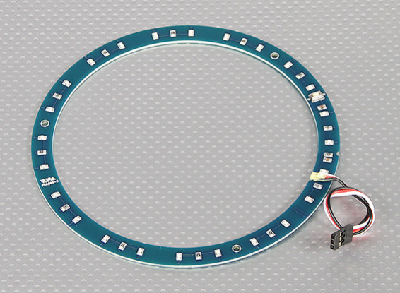 LED Ring 145mm Red w/10 Selectable Modes