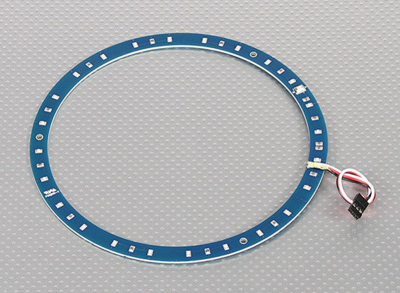 LED Ring 165mm Blue w/10 Selectable Modes
