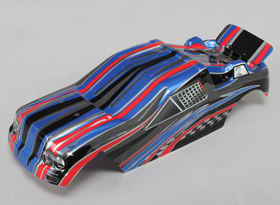 Pre-Painted Body Shell w/Decals 1/10 Turnigy Stadium King 2WD Truggy