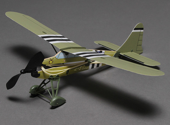 Rubber Band Powered Freeflight Airplane L-5 467mm Span