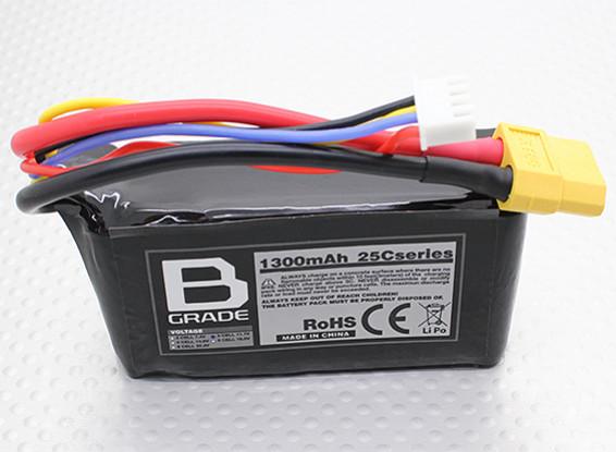 B-Grade 1300mAh 3S 25C Lipoly Battery