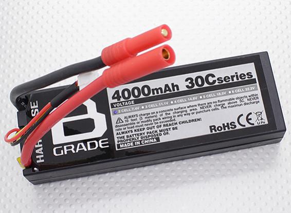 B grade 4000mAh 2S 30C Hardcase Pack