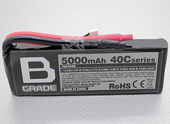 B-Grade 5000mAh 2S 40C Lipoly Battery