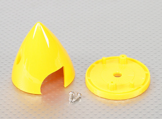 "Plastic Spinner 51mm - 2"" Yellow"