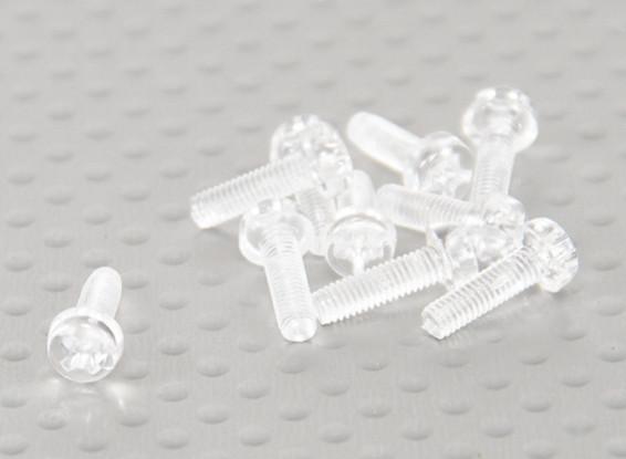 Transparent Polycarbonate Screws M3x10mm - 10pcs/bag