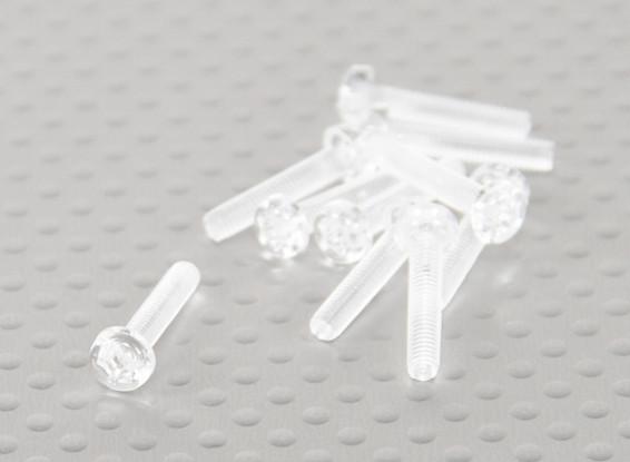 Transparent Polycarbonate Screws M3x15mm - 10pcs/bag