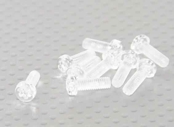Transparent Polycarbonate Screws M4x12mm - 10pcs/bag