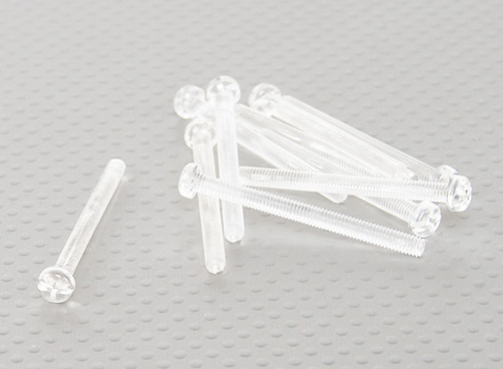 Transparent Polycarbonate Screws M4x45mm - 10pcs/bag
