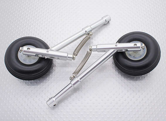 Alloy 104mm Oleo Strut Set with 22mm Wheels for 4mm Mounting Pin