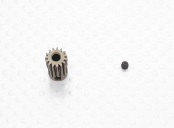 """""""Hard One"""" 0.5M Hardened Helicopter Pinion Gear 3.17mm Shaft - 15T"""