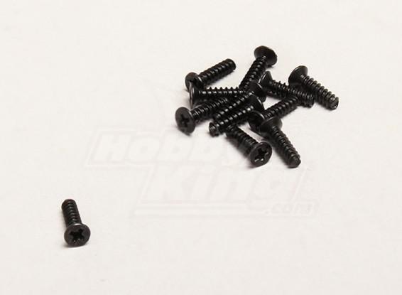Self Tapping 2.6x10mm Flat Head Cross Screw (12pcs/bag) - Turnigy Trailblazer 1/8, XB and XT 1/5