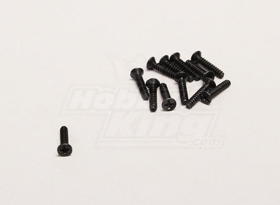 Self Tapping 3x16mm Cross Screw (12pcs/bag) - Turnigy Trailblazer 1/8