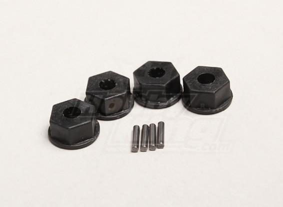 Hex Hub 12mm w/pin (4pcs/bag) - Turnigy Trailblazer 1/8