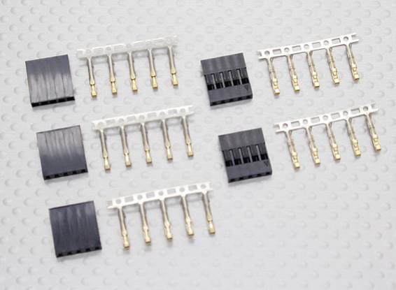 5 pin Dupont Connectors (5set/bag)