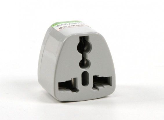 HobbyKing TXW001 Fused 13 Amp Mains Power Multi Adapter-Grey (US Plug)
