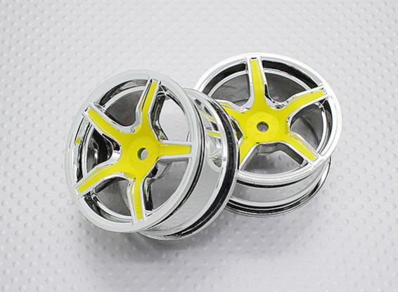 1:10 Scale High Quality Touring / Drift Wheels RC Car 12mm Hex (2pc) CR-C63Y