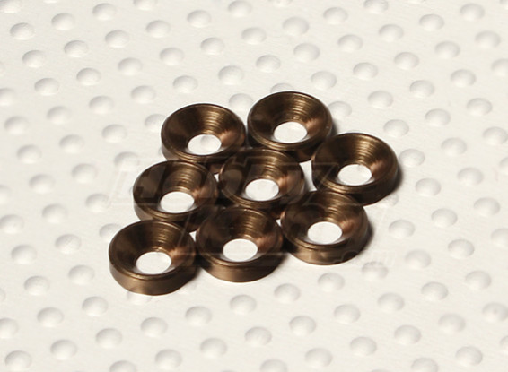 Countersunk Washer Anodised Aluminum M3 (Titanium Colour) (8pcs)
