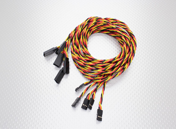 Twisted 100cm Servo Lead Extension (JR) 22AWG (5pcs/set)