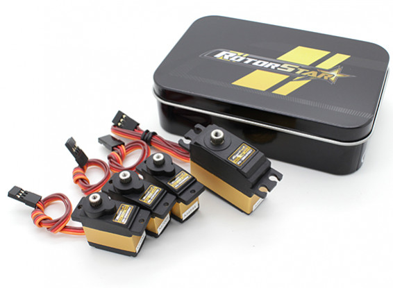 RotorStar 450 Size Helicopter Digital Servo 25T Combo Pack (RS2125MGC x 3 and RS3868MGT x 1)(EU)