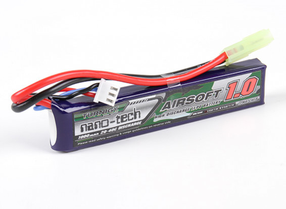 Turnigy nano-tech 1000mah 2S 20~40C Lipo AIRSOFT Pack