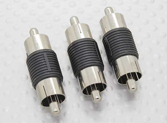 RCA Male to RCA Male A/V Coupler Adaptor (3pc)