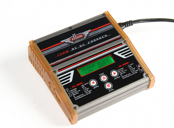 Turnigy dlux AC/DC 130W 10A 6S  Balance Charger/Discharger with Accessories (US Plug)