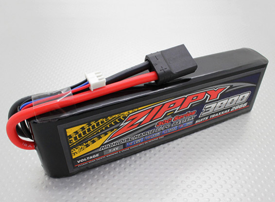 ZIPPY Traxxas compatible 3800mAh 2S1P 30C Lipo Pack (Suits TRA2866)