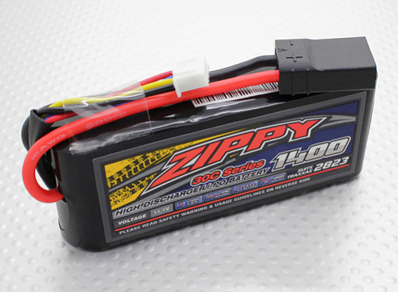 ZIPPY Traxxas compatible 1400mAh 3S1P 30C Lipo Pack (Suits TRA2823)
