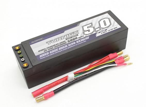 Turnigy 5000mAh 4S 14.8V 60C Hardcase Pack (Removable Leads)