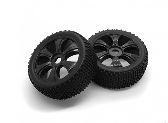 HobbyKing 1/8 Scale K Spec Y-Spoke Wheel/Tire 17mm Hex (Black)