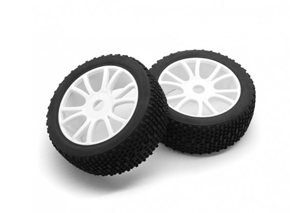 HobbyKing 1/8 Scale Scrambler Y-Spoke Wheel/Tire 17mm Hex (White)